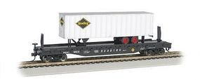 Bachmann 526 Flat w/35 Trailer Reading HO Scale Model Train Freight Car #16704