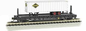 Bachmann 526 Flatcar with piggy Reading N Scale Model Train Freight Car #16754