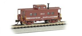 Bachmann Northeast Steel Caboose Western Maryland #1863 N Scale Model Train Freight Car #16859