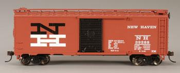 Bachmann 40' Boxcar New Haven -- HO Scale Model Train Freight Car -- #17031