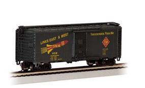 Bachmann 40 Boxcar Toledo, Peoria & Western #608 HO Scale Model Train Freight Car #17032