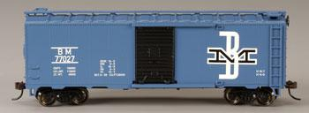 Bachmann 40' Boxcar Boston & Maine -- HO Scale Model Train Freight Car -- #17048