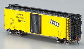 Bachmann AAR 40' Steel Box Toronto/Hamilton & Buffalo -- N Scale Model Train Freight Car -- #17055