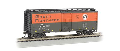 Bachmann 40' Steel Box Great Northern -- N Scale Model Train Freight Car -- #17059