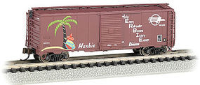 Bachmann AAR 40 Steel Boxcar Missouri Pacific N Scale Model Train Freight Car #17060