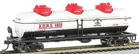 Bachmann 40 3-Dome Tank Allegheny Refining HO Scale Model Train Freight Car #17103