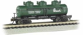Bachmann 3-Dome Tank Chemcell N Scale Model Train Freight Car #17152