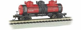 Bachmann 3-Dome Tank Transcontinental Oil Co. N Scale Model Train Freight Car #17154