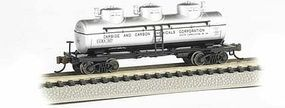 Bachmann 3-Dome Tank Carbide Carbon Chemicals N Scale Model Train Freight Car #17155