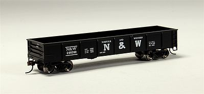 Bachmann 40' Gondola Norfolk & Western -- HO Scale Model Train Freight Car -- #17228