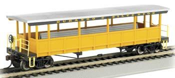 Bachmann Open Sided Excursion Car Durango & Silverton -- HO Scale Model Train Passenger Car -- #17432