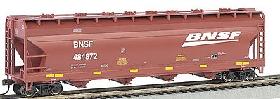 Bachmann ACF 56' Center-Flow Hopper BNSF -- HO Scale Model Train Freight Car -- #17505