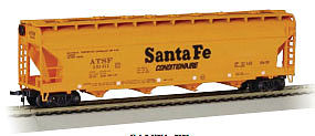 Bachmann 56' 4-Bay Center Flow Hopper ATSF -- N Scale Model Train Passenger Car -- #17551