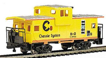 Bachmann 36' Wide Vision Caboose Chessie -- HO Scale Model Train Freight Car -- #17709