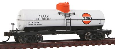 Bachmann ACF 36'6 10,000 Gallon Single-Dome Tank Clark -- N Scale Model Train Freight Car -- #17857