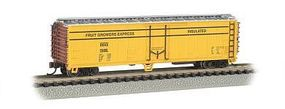 Bachmann ACF 50 Steel Reefer Fruit Growers Express N Scale Model Train Freight Car #17953
