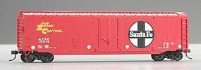 Bachmann 50 Plug Door Boxcar Santa Fe HO Scale Model Train Freight Car #18002