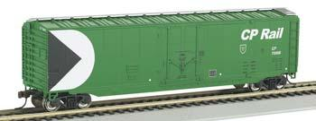 Bachmann 50' Plug Door Boxcar Canadian Pacific Rail Green -- HO Scale Model Train Freight Car -- #18027