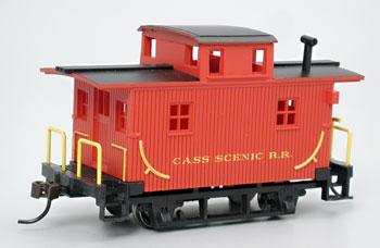 Bachmann Bobber Caboose Cass Scenic R.R. -- HO Scale Model Train Freight Car -- #18445