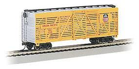 Bachmann 40 Stock Car Union Pacific HO Scale Model Train Freight Car #18501