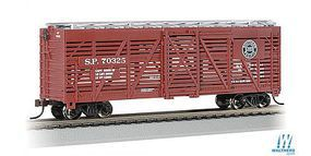Bachmann 40 Stock Car Southern Pacific #70325 HO Scale Model Train Freight Car #18503