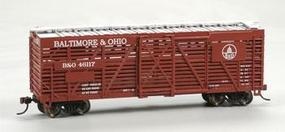 Bachmann 40 Stock Car Baltimore & Ohio HO Scale Model Train Freight Car #18512