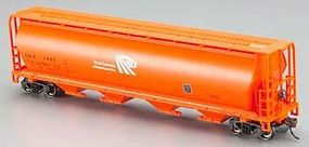 Bachmann Canadian Cylindrical 4-Bay Grain Hopper Potash Corp HO Scale Model Train Freight Car #19143
