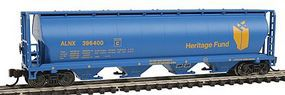 Bachmann 4-Bay Grain Hopper Heritage Fund N Scale Model Train Freight Car #19189
