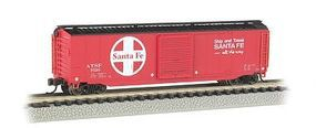 Bachmann 50 Sliding Door Box Santa Fe N Scale Model Train Freight Car #19454