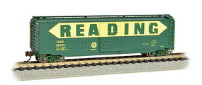 Bachmann 50 Sliding Door Boxcar Reading N Scale Model Train Freight Car #19461