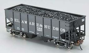 Bachmann 55T 2-Bay Hopper w/Coal Delaware & Hudson HO Scale Model Train Freight Car #19505