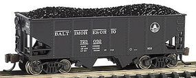Bachmann USRA 55T 2-Bay Hopper Baltimore & Ohio N Scale Model Train Freight Car #19553