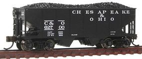 Bachmann USRA 55T 2-Bay Hopper Chesapeake & Ohio N Scale Model Train Freight Car #19555