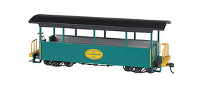 Bachmann Wood Excursion Car - Ready to Run H. Lee Riley (green, black Roof) - On30-Scale