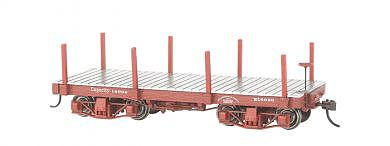 Bachmann 18' Freight Painted/Unlettered Flat Car -- O Scale Model Train Freight Car -- #26511