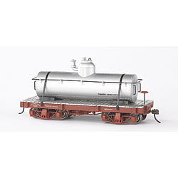 Bachmann 18' Freight Painted/Unlettered Tank Car -- O Scale Model Train Freight Car -- #26521