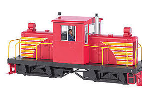 Bachmann Whitcomb 50T Painted Red w/Yellow O Scale Model Train Diesel Locomotive #29204