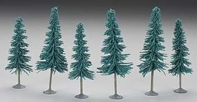 Bachmann 5-6 Blue Spruce Trees (6pk) Model Railroad Scenery #32012