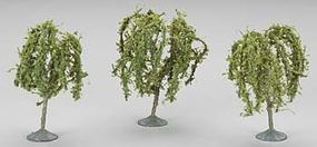 Bachmann 3-3.5 Willow Trees (3) HO Scale Model Railroad Scenery #32014