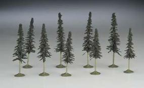 Bachmann 3-4 Conifer Trees (9/pk) N Scale Model Railroad Scenery #32103