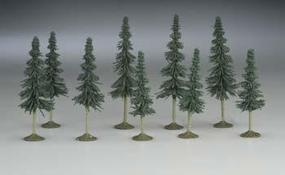 Bachmann 3-4 Inch Spruce Trees (9) N Scale Model Railroad Scenery #32104