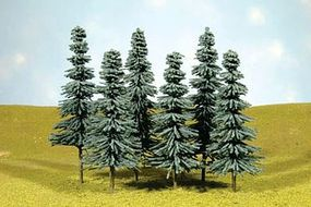 Bachmann 3-4 Inch Blue Spruce Trees (6) N Scale Model Railroad Scenery #32112