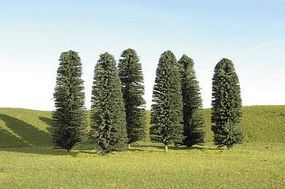 Bachmann 5-6 Inch Cedar Trees (24) HO Scale Model Railroad Scenery #32160