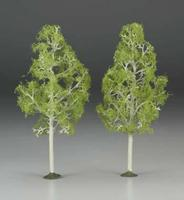 Bachmann 8 Inch Aspen Trees (2) O Scale Model Railroad Scenery #32210