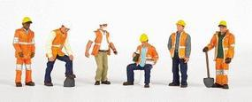 Bachmann Maintenance Workers (6) HO Scale Model Railroad Figure #33106