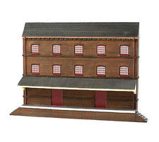 Bachmann Three-Story Warehouse False-Front Resin Building HO Scale Model Railroad Building #35008