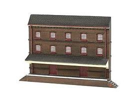 Bachmann Resin Front 3-Story Warehouse N Scale Model Railroad Building #35051