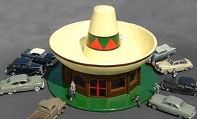 Bachmann Sombrero Restaurant HO Scale Model Railroad Building #35204