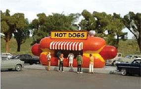 Bachmann Resin Hot Dog Stand Kit HO Scale Model Railroad Building #35206