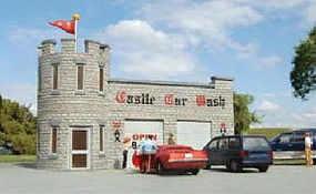 Bachmann Resin Castle Car Wash Kit HO Scale Model Railroad Building #35210